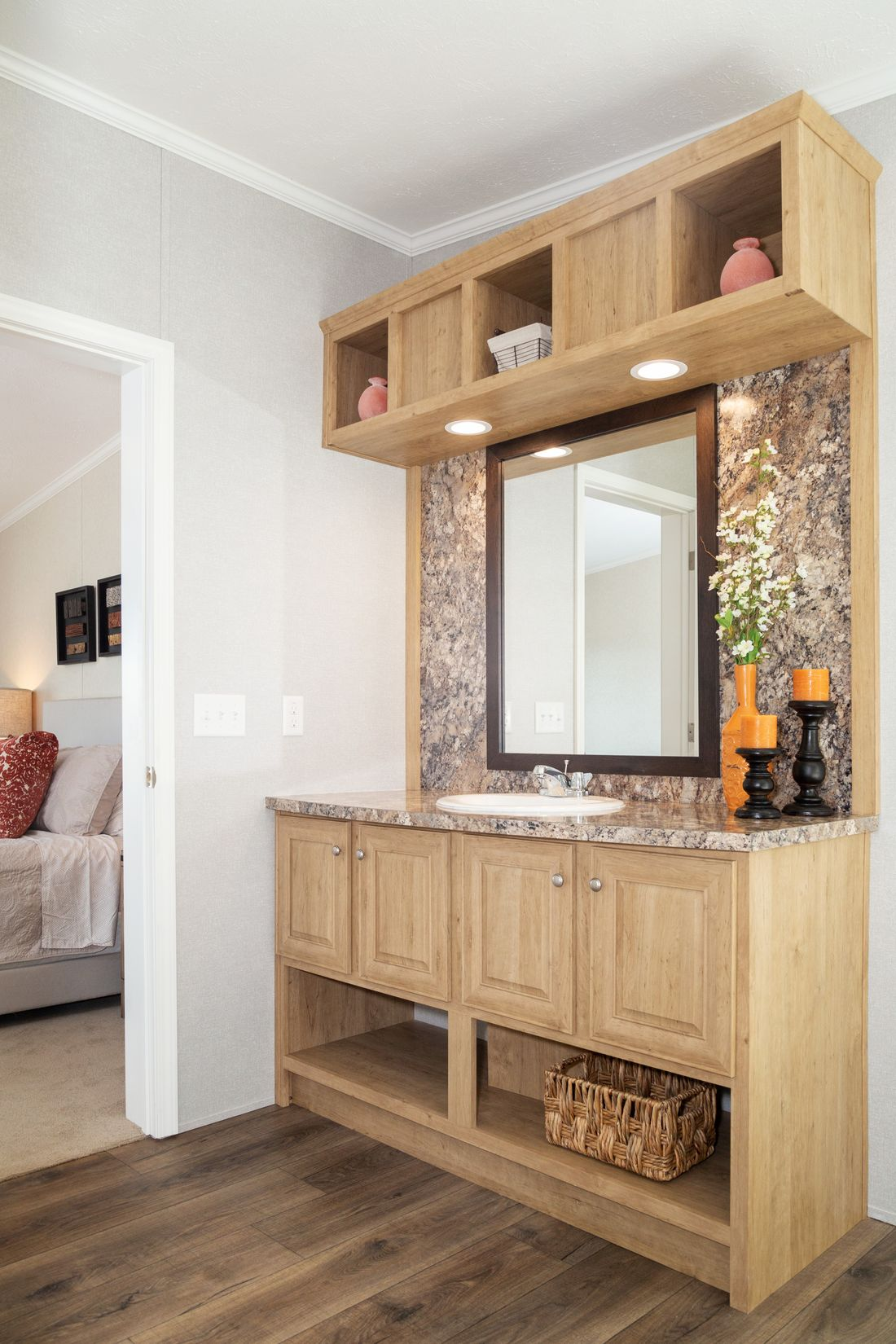 The SHEER ELM Master Bathroom. This Manufactured Mobile Home features 3 bedrooms and 2 baths.